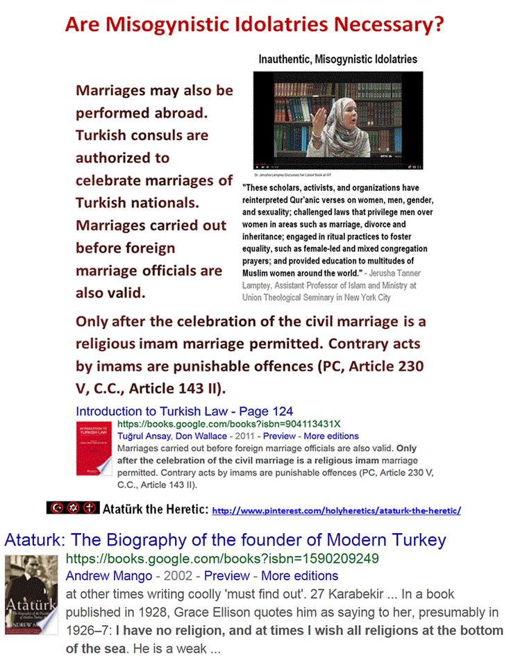 "Ataturk the Heretic: ""I have no religion, and at times I wish all religions at the bottom of the sea."" Only after the celebration of the civil marriage is a religious imam marriage permitted https://www.pinterest.com/holyheretics/ataturk-the-heretic/ https://www.pinterest.com/pin/540924605222214087/ https://www.pinterest.com/pin/540924605222213365/ https://www.pinterest.com/pin/540924605222188825/ https://www.pinterest.com/pin/540924605222261486…"