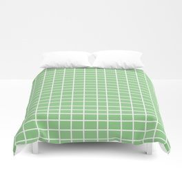 Squares of Green Duvet Cover