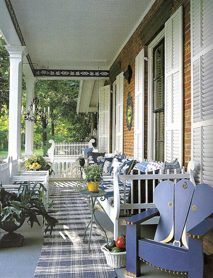 blue and white porch: Backyard Front Porch Outdoors, Porches In Out Patios Etc, Google Search, Beautiful Porches, Photo Porch6 Jpg, Porches Patios