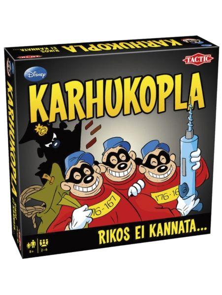 Onnistutko murtautumaan Roope Ankan rahasäiliöön Karhukopla-pelissä? Liity mukaan Ankkalinnan armottomimman rikolliskoplan järjestämään Vuoden kelmi -kilpailuun! Tehtävänä on kerätä mahdollisimman paljon pisteitä suorittamalla mitä mielikuvituksellisimpia rikkeitä. Jos jäät kiinni, joudut liittymään poliisien joukkoon jahtaamaan muita koplan jäseniä!