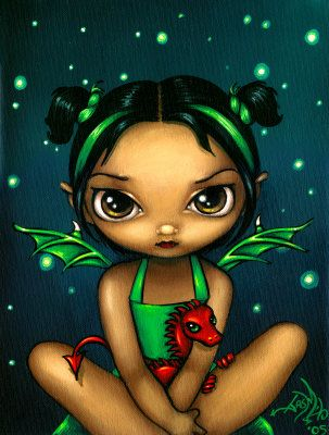 Green Dragonling Fairy - Jasmine Becket-Griffith