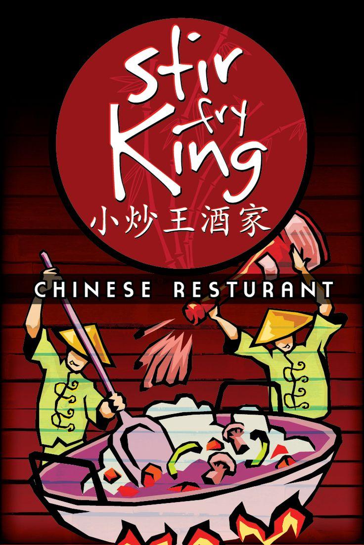 Stir Fry King Chinese Restaurant Logo & Signage. Trinidad