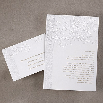 Traditional Vintage From Carlson Craft   A Vintage Design Is Richly  Embellished With Beautiful Embossed Details · Embossed Wedding  InvitationsWedding ...