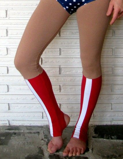 Wonder Woman Leggings. I would love these as socks or leg warmers though.