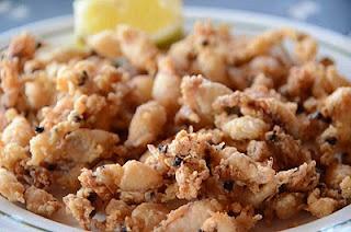 Puntillitas.  Delicious little fried baby squid!  ... en Sevilla
