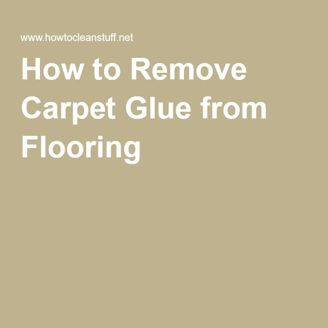 How to Remove Carpet Glue from Flooring