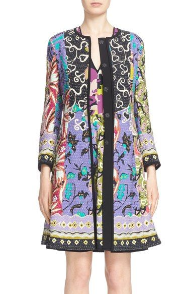 Etro 'Floral Patchwork' Textured Coat available at #Nordstrom