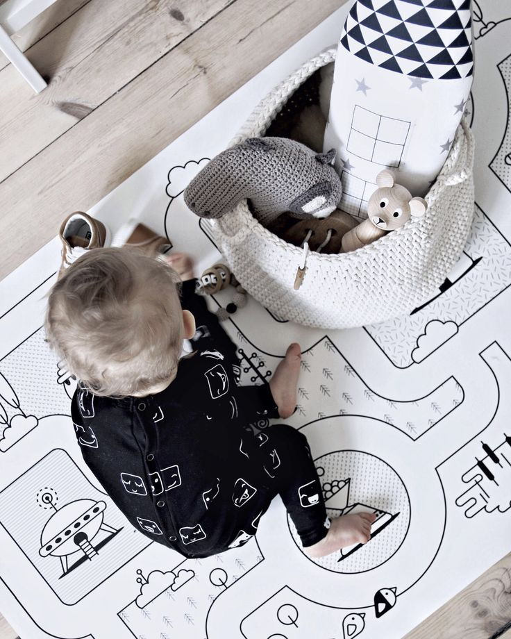 Monochrome Nursery / Game Road Map City Rug Kids City Area Rug Kids Play Rug / PVC Rug / Kids Decor / Kids Non Slip Mat / Toddler Room by petekdesign on Etsy https://www.etsy.com/listing/262571824/monochrome-nursery-game-road-map-city