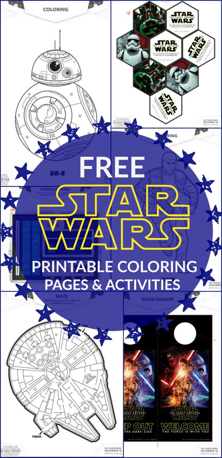 21 Star Wars The Force Awakens Printable Activities and Coloring Pages The movie es