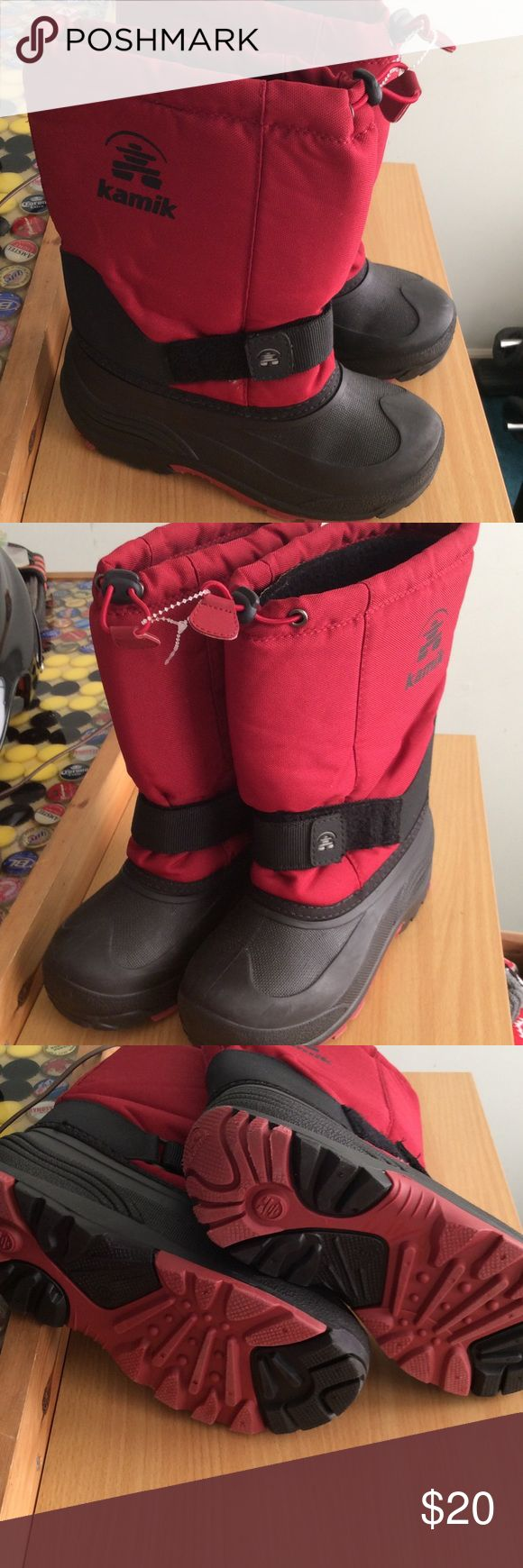 New Kamik winter boots size 3 New condition, Kamik size 3,. Boy. length is 9 1/2 inches Kamik Shoes Rain & Snow Boots