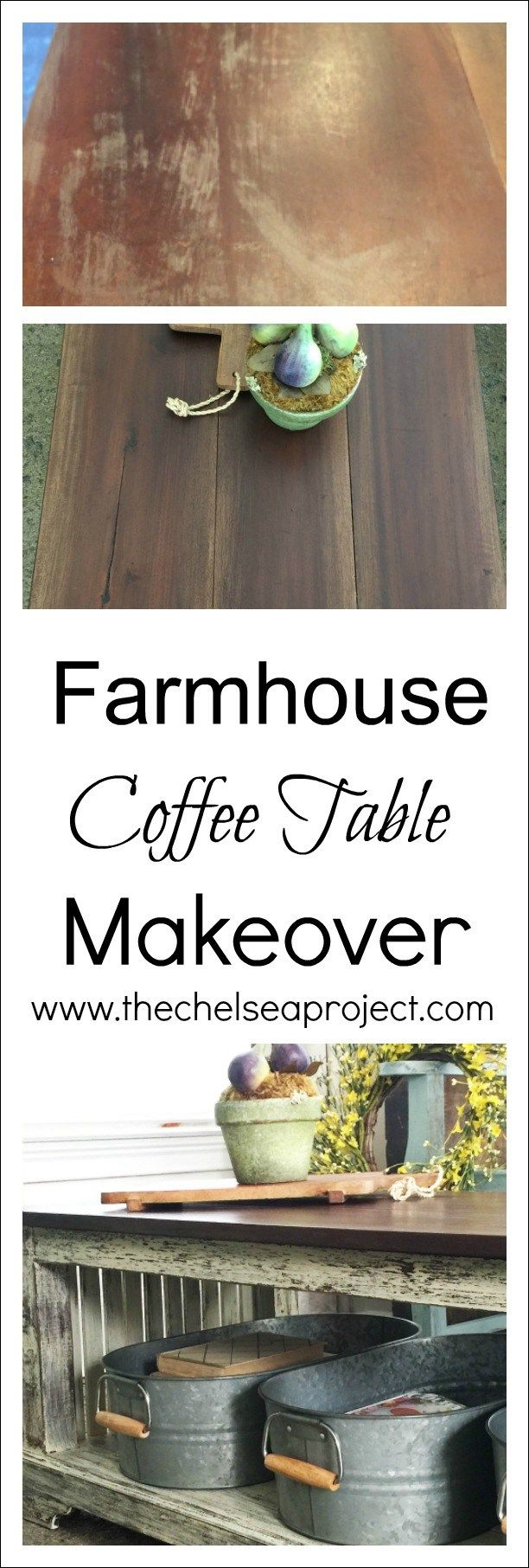 Farmhouse Coffee Table Makeover | www.thechelseaproject.com