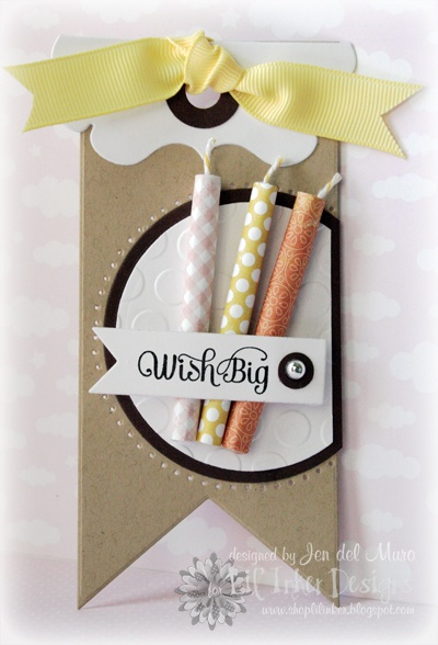 Great idea to make paper candles for a card