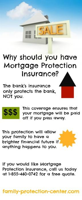 Why should you get mortgage protection insurance ? www.family-protection-center.com