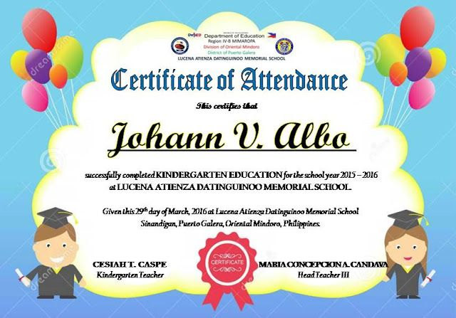 Certificate Of Attendance Templates Editable Deped Lp S