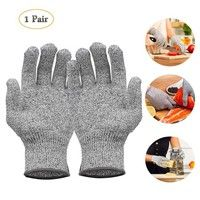 Wish | 1 Pair Cut Resistant Level 5 Protective Gloves Food Grade Knife Proof Safty Gloves Kitchen Glove for Cutting Slicing