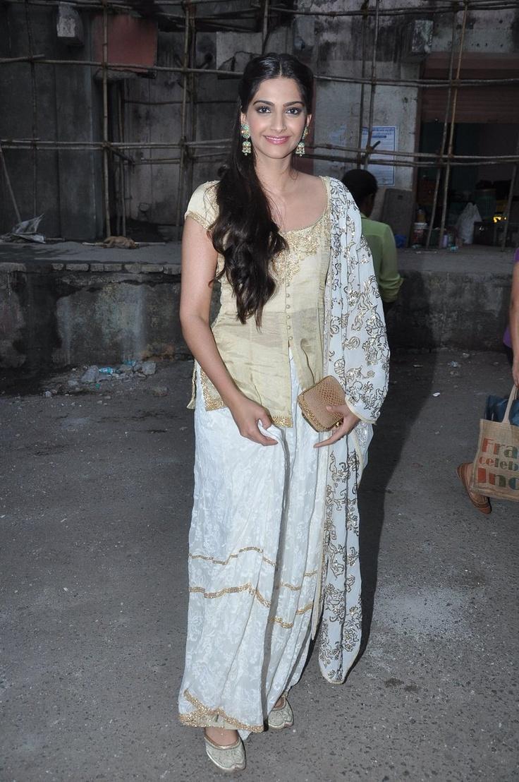 Sonam Kapoor in gold suit