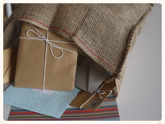 Hessian card sack. This large hessian bag is perfect for receiving cards and gifts from your guests. Add a bit of rustic charm to your wedding reception. Only £2.99 each. www.picketfenceweddings.co.uk