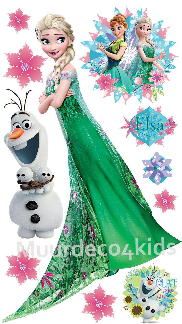 Disney frozen wall stencils - Frozen Fever Elsa Muursticker Xxl Deze Supergrote Frozen Fever Elsa Muurstickers Xxl Is 130 X Disney Frozenelsa