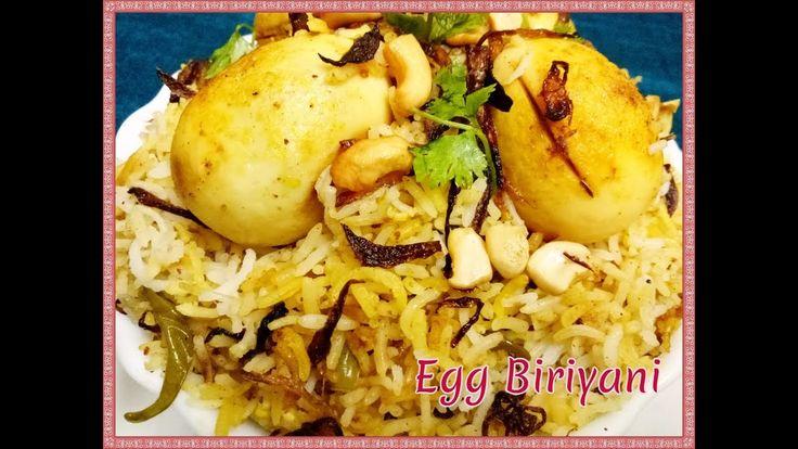 Hyderabadi Egg Dum Biryani Recipe in Telugu   Restaurant Style  Easy and...