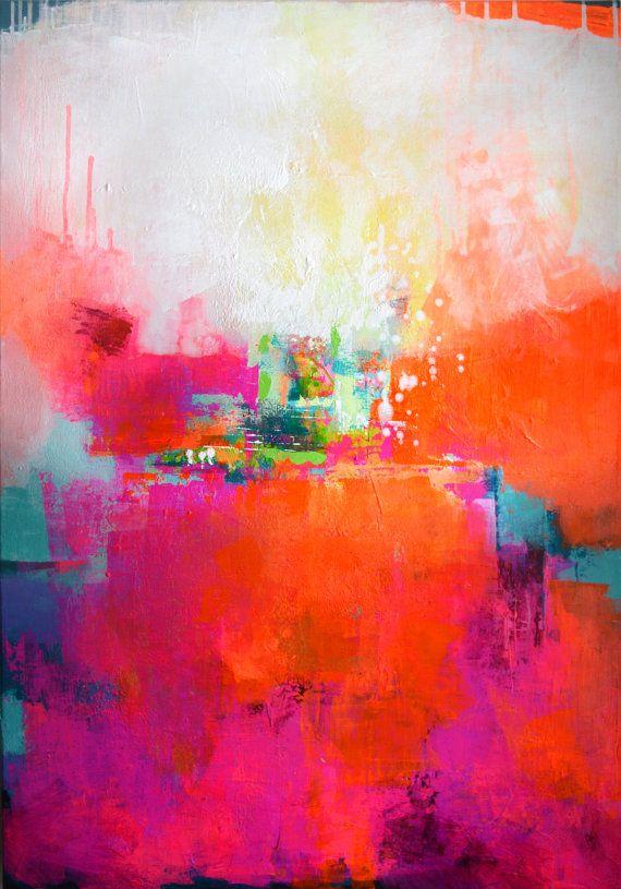 Original große abstrakte Malerei abstrakte Kunst von ARTbyKirsten