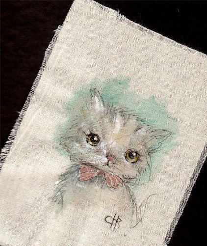 Original+Pen+Ink+acrylic+colors+on+Fabric+by+ppinkydollsart,+$8.50