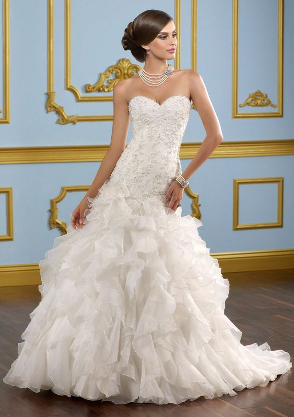Superb Bridal Dress From Blu By Mori Lee Dress Style Alencon lace on organza