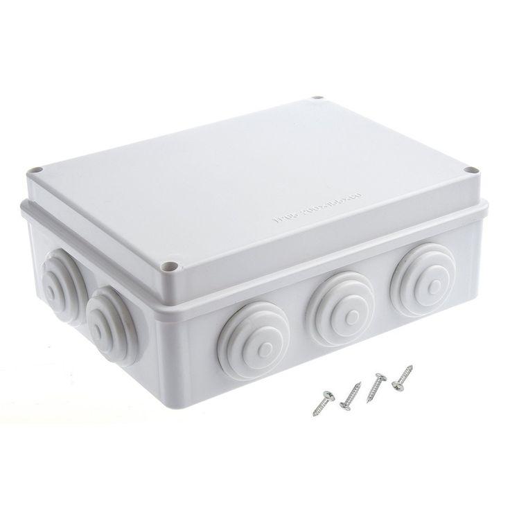 "LeMotech 7.9""x 6.1"" x 3.1"" (200mmx155mmx80mm)White ABS IP65 Waterproof Dustproof EnClosure Junction Box"