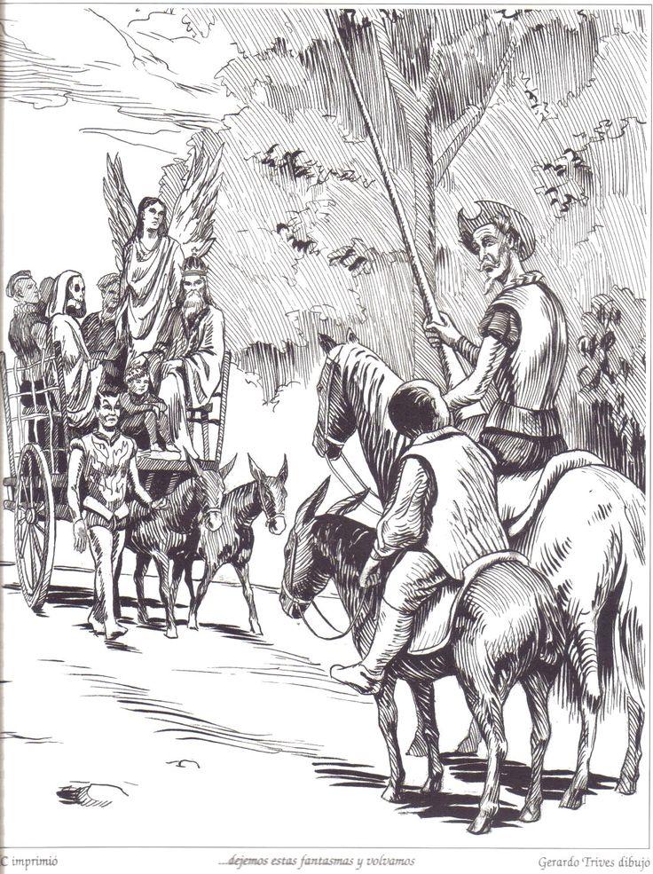 Don Quijote/ Dibujo de Gerardo Trives