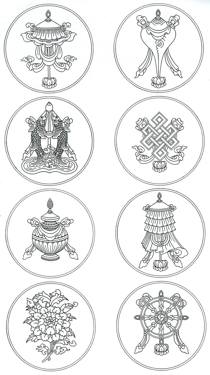buddhist eight auspicious symbols | The Eight Auspicious Symbols of Buddhism - A Study in Spiritual ...