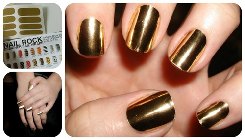 Get The Look: Gold Metallic Nails #Beauty | Penelope's Oasis.  Found on http://penelopesoasis.com/2012/metallic-gold-nails-beauty-tutorial.html: Minx Nails, Nails Art, Gold Nails, Foil Nails, Nails Design, Polish Nails, Nails Ideas, Nails Polish, Golden Nails