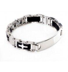 Armband för killar / herrar i rostfritt stål med Id-bricka.
