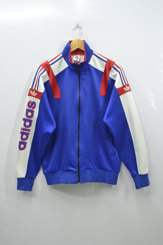 de5520029293 ADIDAS Track Top Vintage 90 s Adidas Big Logo Spell Out Colorblock Made In  Japan Track Top Zipper Jacket Sweater Size Jaspo O