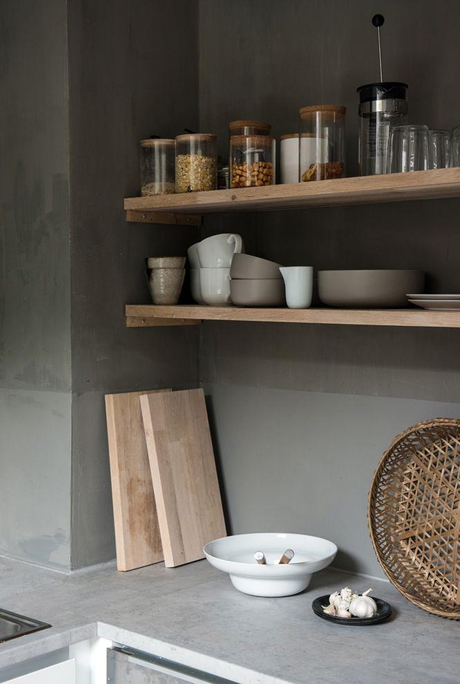 Details in the loft studio kitchen
