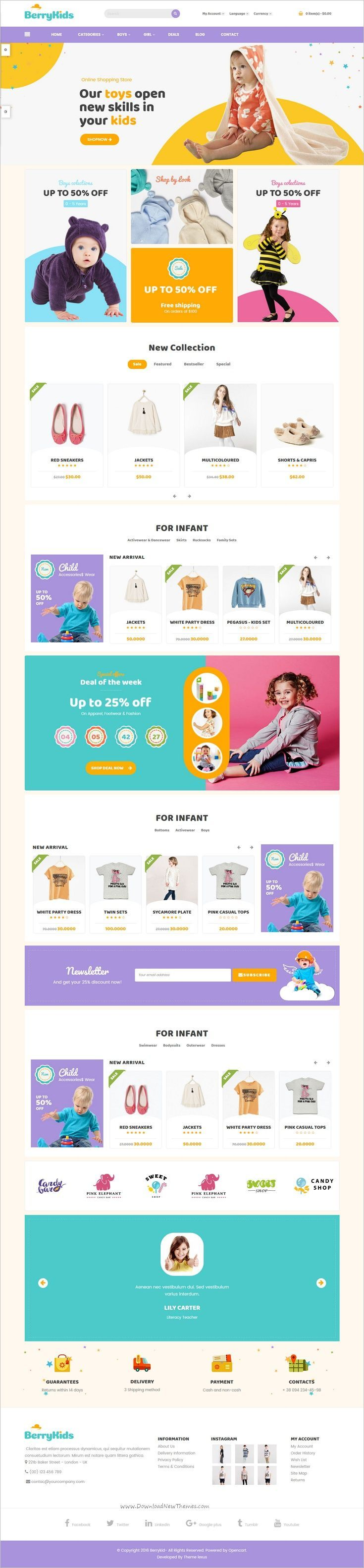 Lexus Berrykid is a creative and powerful 4in1 responsive #Opencart theme for kids, #baby #gifts #toys online #store eCommerce website with ultimate core features download now➩ https://themeforest.net/item/lexus-berrykid-kid-shop-opencart-theme/19087005?ref=Datasata