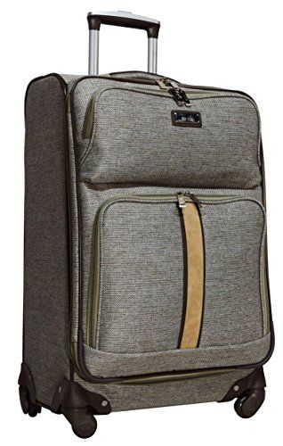 Luggage Sets Collections Nicole Miller Cameron Collection 24 Expandable Spinner Tan Click Image To Review More Details