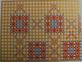 Ponto do Bordado: Bordados em tecido xadrez