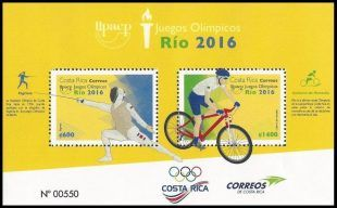 RIO Olympic Games 2016 stamps - Costa Rica