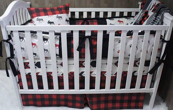 Woodland is the theme to this adorable baby bedding set . Any of my other listings can also be made like this just convo me to set up a listing for you ! The options are on the dropdown if you would like it with or without bumpers . Fabrics can also be moved around just send me a message of