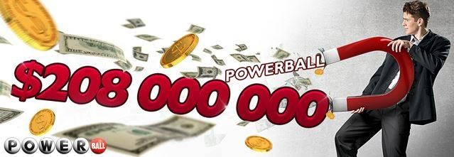 Powerball jackpot climbed to US $ 208 million fantasy, this Wednesday. Good luck! Play it online here: http://ads.playukinternet.com/tracking.php/text/3113/12626/3368003/1