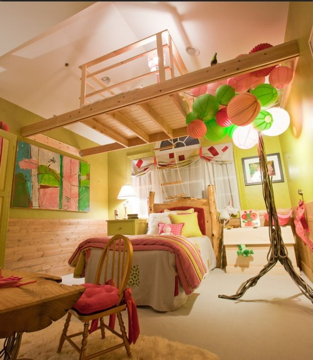 I want this room! But in different colors......turquoise and white and...........sparkles.........