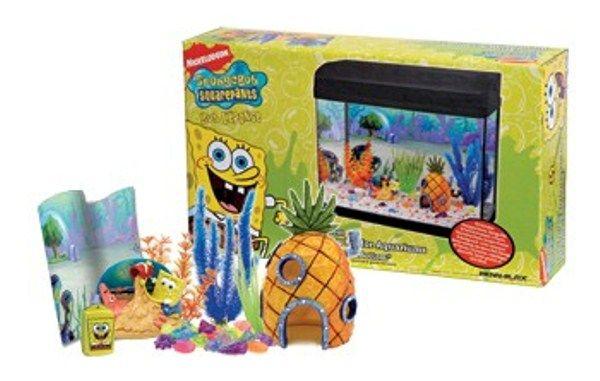Spongebob aquarium decorating kit my dream castle for Aquarium decoration kits