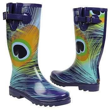 Peacock Rain Boots