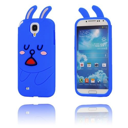 Schattig Konijn (Blauw) Samsung Galaxy S4 Hoesje