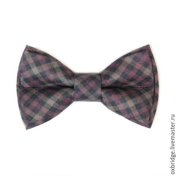 Купить Галстук бабочка в диагональную клетку / Бабочка галстук в клетку - галстук бабочка