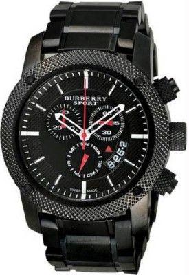 Relógio Sport Men's Chronograph Watch Color: Black / Grey #relogio #burberry