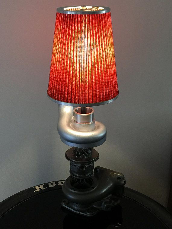 Custom Made Turbo Lamp Looks Great In Man Cave Shop Office Or