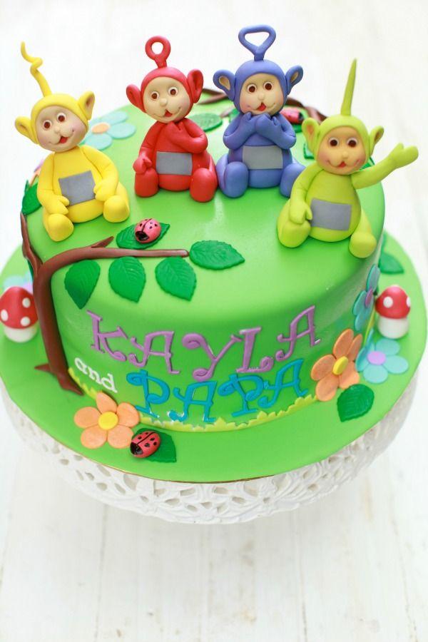 masam manis: Kek Teletubbies untuk Kayla dan papa