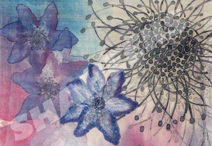 Art Lillies floral poster /print  ShaheensDesigner