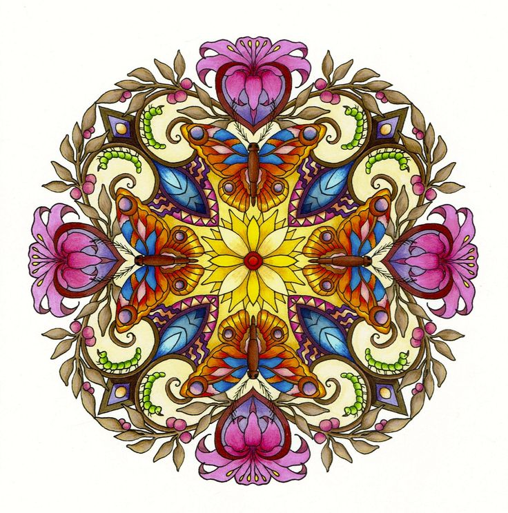 Mandala by CYNTHIA EMERLYE Coloring by Harold Suttles. - Pinned by The Mystic's Emporium on Etsy