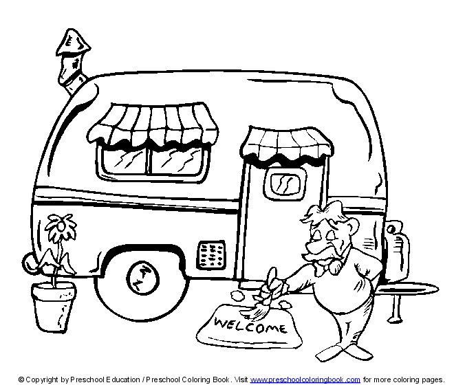 74 best Camping- Coloring Pages images on Pinterest | Day care ...